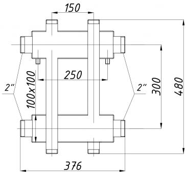 Коллектор К22ВН.150 (300)