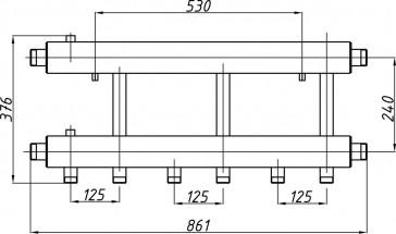 Коллектор К32Н.125 (240)